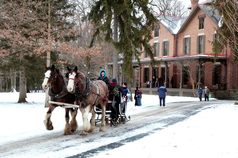 sleigh rides through spiegel grove destination toledo